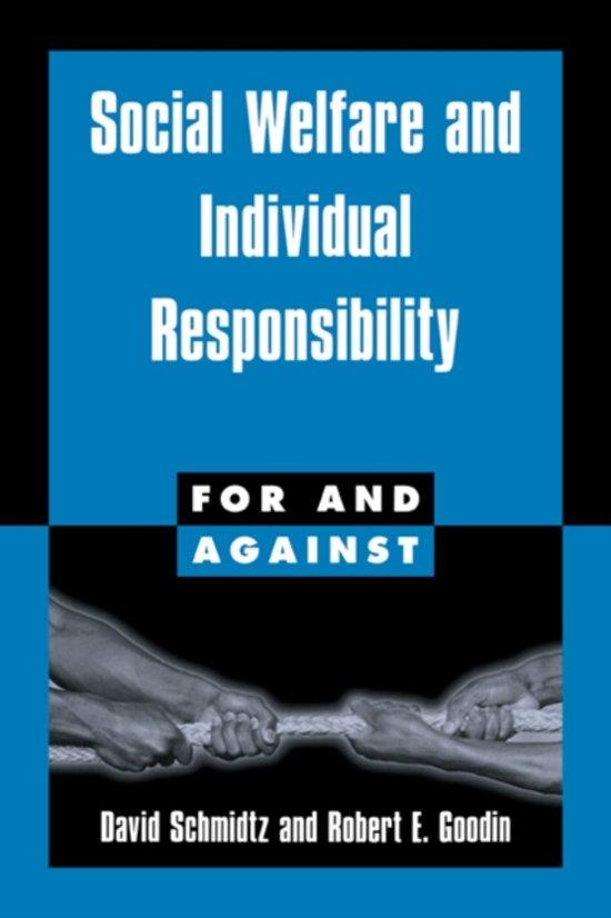bolcom social welfare and individual responsibility