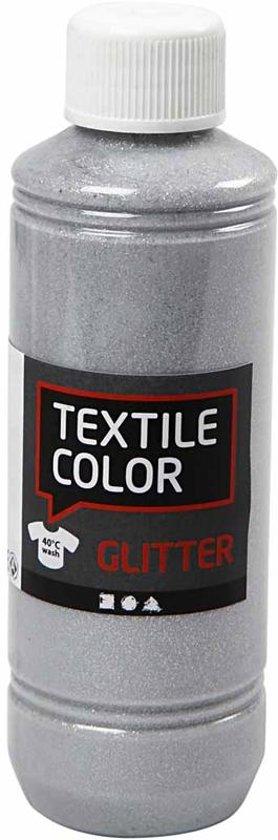 Textile Color, zilver, glitter, 250 ml in Nieuwe Molen