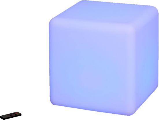 O 39 daddy projectielamp multicolor led kubus stoeltje wonen for Kubusgordijnen