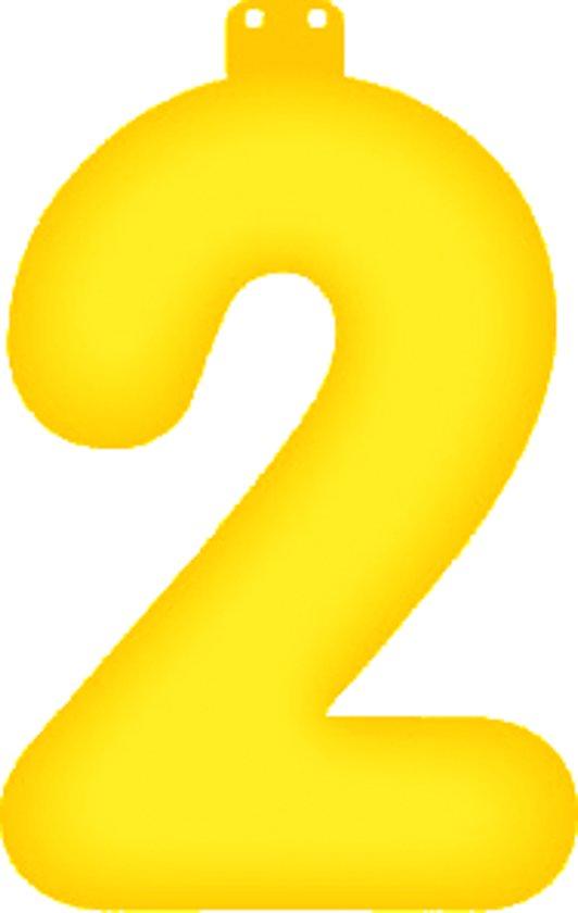 Opblaas cijfer 2 geel in Molenhoek