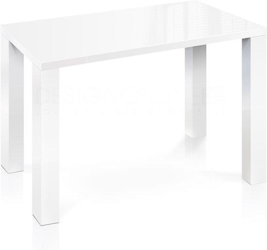 Hoogglans Keuken Krassen : Eettafel van 92 cm hoog en 160 lengte – Diepte 90 cm – Hoogglans Wit