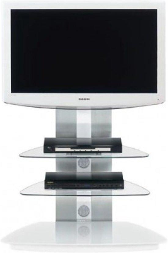 jahnke moebel cuuba tv meubel wit aluminium glas. Black Bedroom Furniture Sets. Home Design Ideas