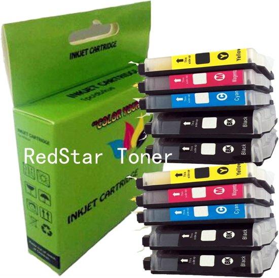 10 Pack Compatible Brother LC1240 BK*4/C*2/M*2/Y*2 inktcartridges, 10 pak. 4 zwart, 2 cyaan, 2 magenta, 2 geel