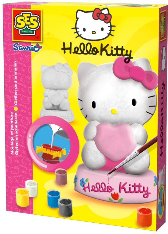 Ses Gips Gieten - Hello Kitty in Schotsheuvel