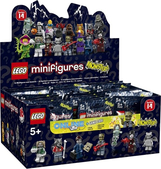 LEGO Minifigures Serie 14 - 60 Zakjes in Boveneind