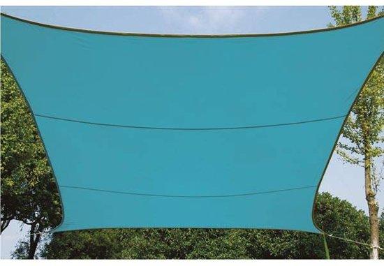 Schaduwdoek zonnezeil vierkant 3 6 x 3 6 m kleur hemelsblauw - Zonnezeil goedkope ...