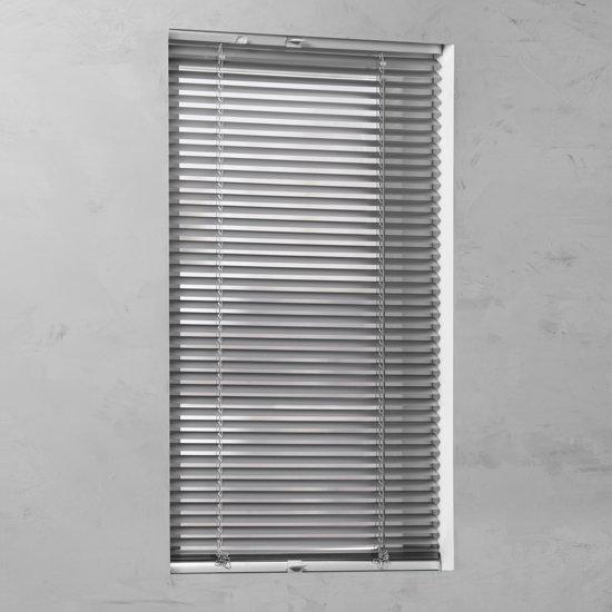 bol com   Pure Living   Aluminium jaloezie met zijgeleiding   20mm   Silver Metallic   100×130 cm