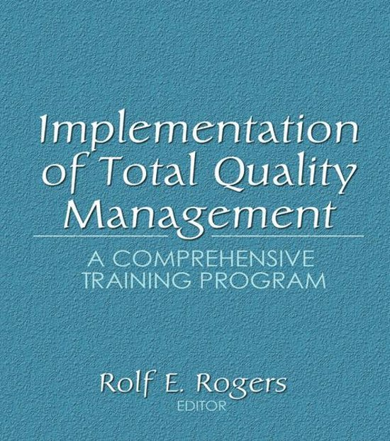 comprehensive management training program essay Total quality management a comprehensive program of management and leadership perhaps after receiving training in change management which they can then.