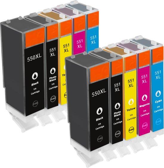 Merkloos – Inktcartridge / Alternatief voor de Canon PGI-550XL CLI-551XL inktcartridge multipack 2 sets Cartridge