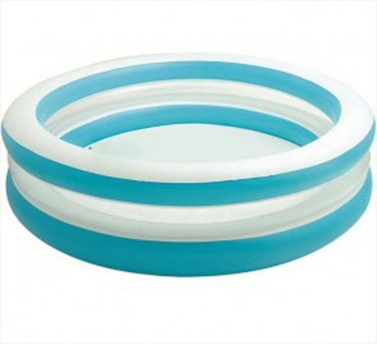 Intex zwembad blauw wit 203 cm for Zwembad rond 3 meter intex