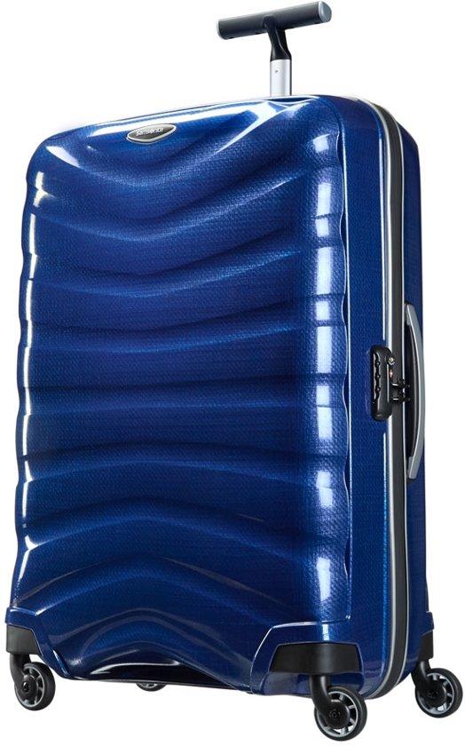 samsonite firelite reiskoffer 75 cm blauw. Black Bedroom Furniture Sets. Home Design Ideas