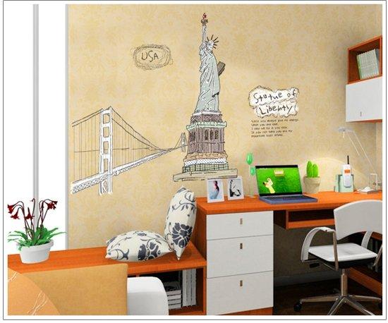 New York Kamer Accessoires : bol.com Pinehouse XL muursticker New York ...
