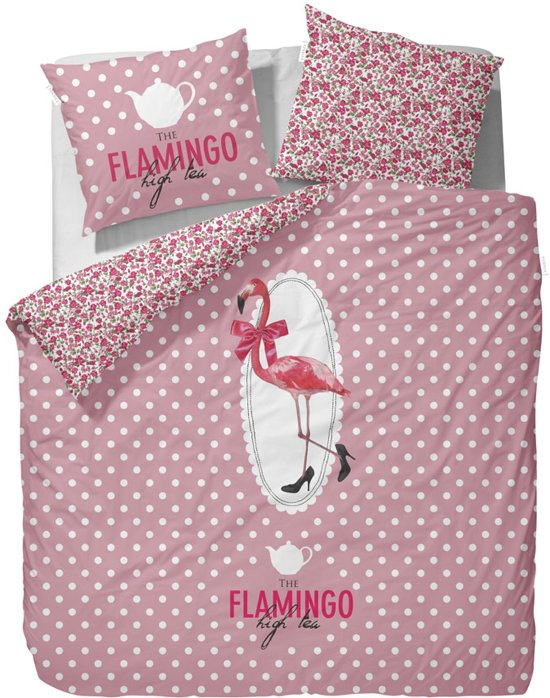 covers co dekbedovertrek flamingo 240 x 200 220 cm. Black Bedroom Furniture Sets. Home Design Ideas
