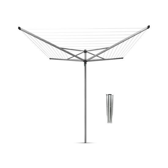 Brabantia Topspinner Droogmolen met grondanker - 60 m