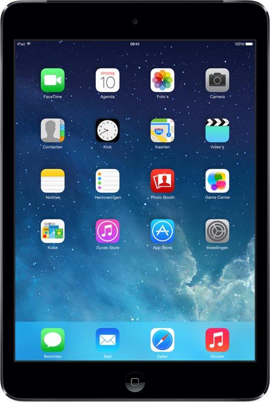 Apple iPad Mini 2 - 4G + WiFi - Zwart/Grijs - 16GB - Tablet