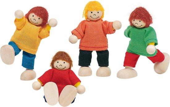 Goki Houten buigpopjes set kinderen 6cm in Zevenhuizen