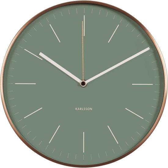 Karlsson minimal jungle green klok rond aluminium 27 5 cm - Klok cm ...