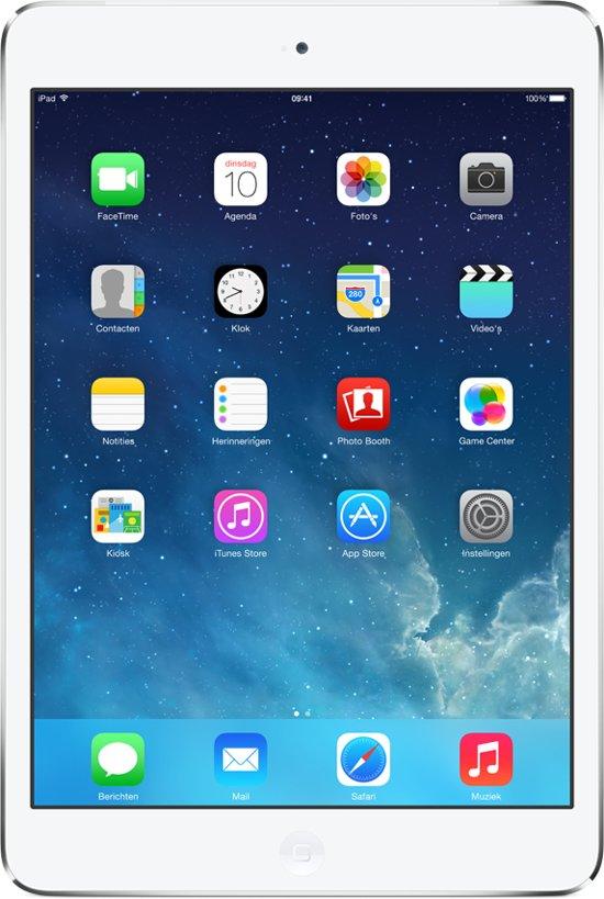 Apple iPad Mini 4G - Wit/Zilver - 16GB - Tablet