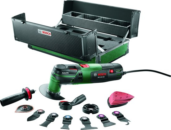 bosch pmf 250 ces multitool oscillerend 250 watt inclusief toolbox. Black Bedroom Furniture Sets. Home Design Ideas
