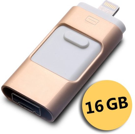 flashdrive voor iphone android usb stick 16 gb. Black Bedroom Furniture Sets. Home Design Ideas