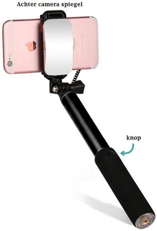 selfie stick draadloos met bluetooth en spiegel voor apple iphone 4 4s. Black Bedroom Furniture Sets. Home Design Ideas