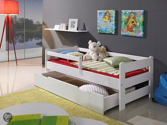 peuterbed noah 70x160cm met opberglade uitvalbescherming en lattenbodem. Black Bedroom Furniture Sets. Home Design Ideas