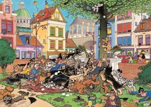 Jan van haasteren vang die kat puzzel 500 stukjes