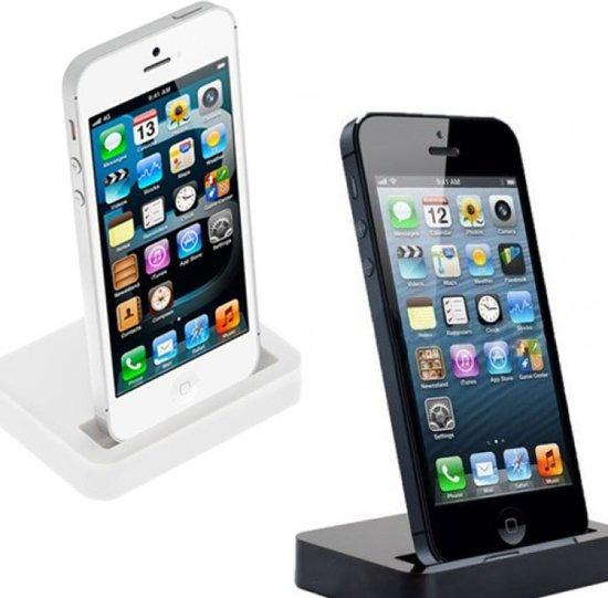 iphone 4 4s 3 docking station zwart wit. Black Bedroom Furniture Sets. Home Design Ideas