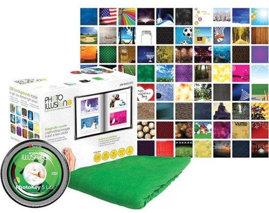 Photo Basic green screen kit met software en digitale achtergronden