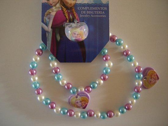 Ketting,armband en ring van Disney Frozen,paars in De Hoef