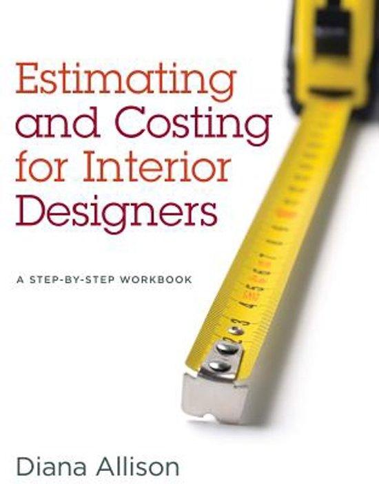 Estimating and costing for interior designers diana allison allison for Estimation and costing in interior designing