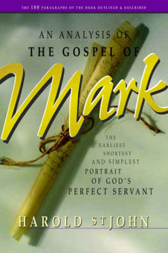 an analysis of the gospels of mark Robert l millet, the jst and the synoptic gospels: literary style, in the joseph smith translation: mark the gospel of mark is a fast-flowing, active account which moves rapidly from john the baptist to the passion narrative.