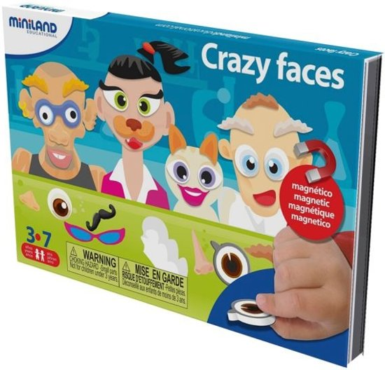 Miniland Taal: On The Go Magnetisch Spel Crazy Faces in Vinalmont