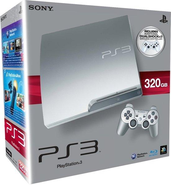 Sony PlayStation 3 Slim 320 GB + Extra Dualshock Controller Zilver