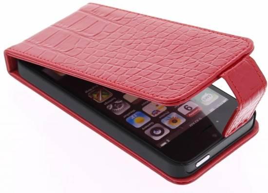 Rode Keukenapparaten : bol.com Rode glimmende krokodil flipcase voor de iPhone 5 / 5s