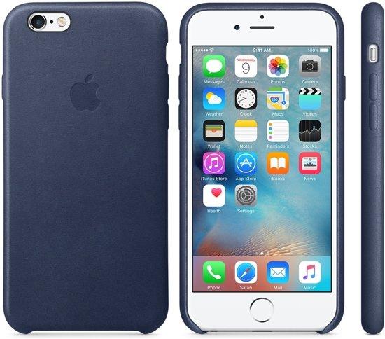 Apple iphone 6s hoesje leer