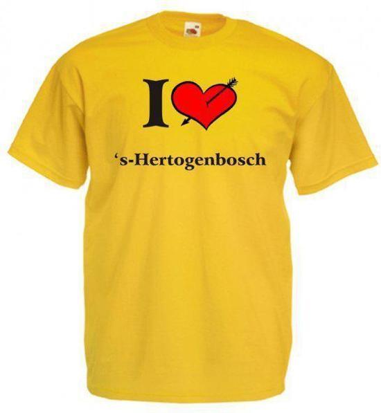 Mijncadeautje T-shirt Oker geel (maat XXL) - 's-Hertogenbosch in Wanzele