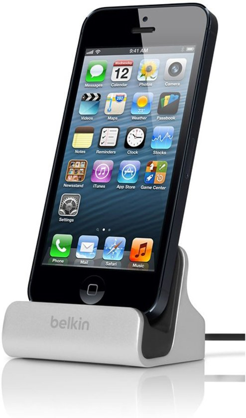 iphone 5 5s docking station belkin sync dock iphone 5 5s incl audio poort. Black Bedroom Furniture Sets. Home Design Ideas