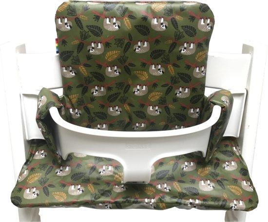 geplastificeerd kussenset voor de tripp trapp kinderstoel van stokke mini stip grijs. Black Bedroom Furniture Sets. Home Design Ideas