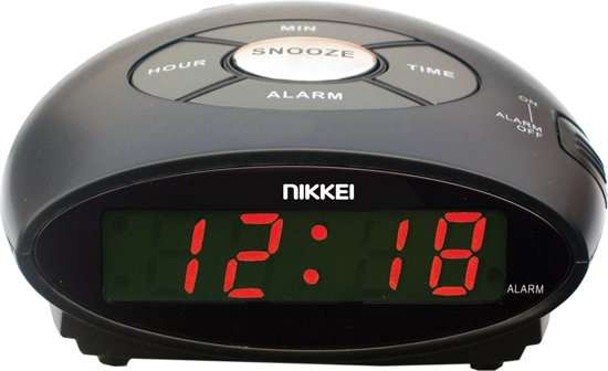 Audio en Video   VANDAAG speciale     NIKKEI NR10BK   DIGITALE WEKKER MET SNOOZE FUNCTIE   ZWART