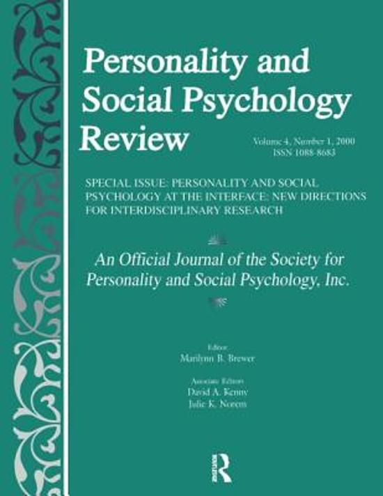 personality and social psychology Social behavior and personality: an international journal (sbp journal), founded in 1973, publishes papers on all aspects of social, personality, and development psychology.