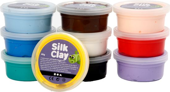 Silk Clay - Klei - Basisset 2 - 10 Kleuren in Ommelanderwijk