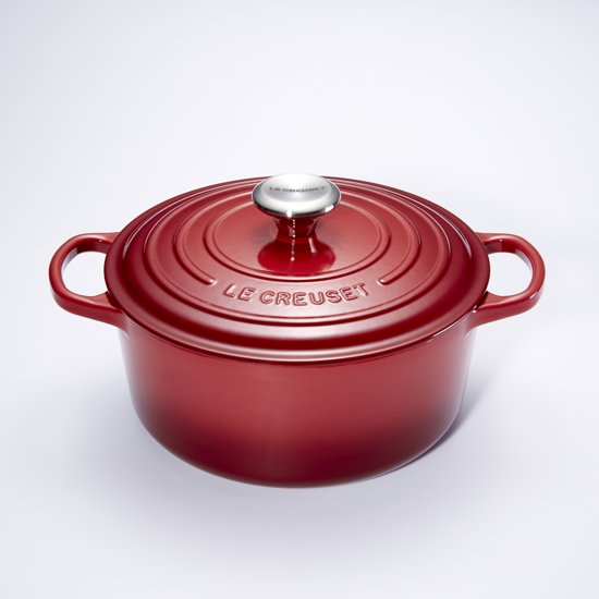 le creuset signature braadpan 4 2 liter 24 cm burgundy. Black Bedroom Furniture Sets. Home Design Ideas