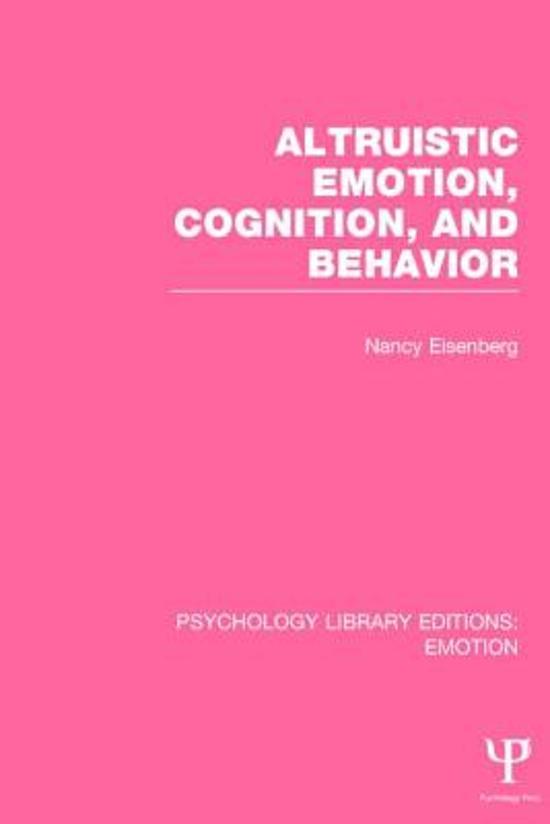 altruism prosocial behaviour essay Full-text paper (pdf): altruism and prosocial behavior.