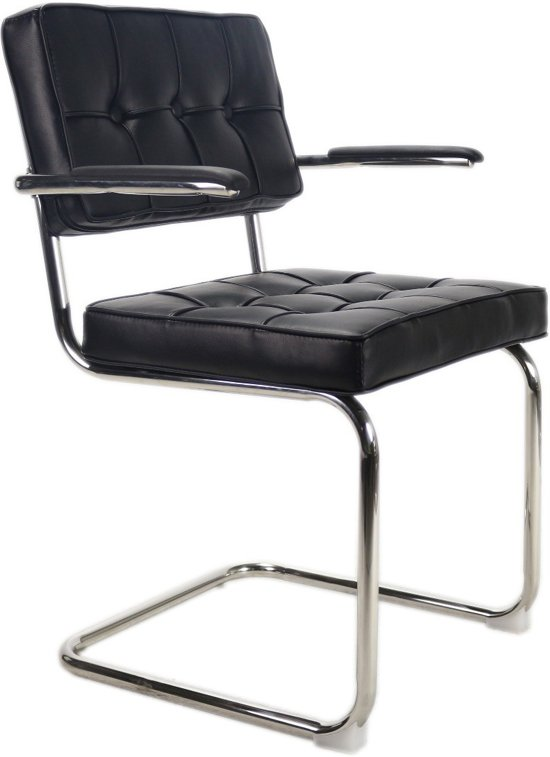 breazz bauhaus fauteuil met arm zwart. Black Bedroom Furniture Sets. Home Design Ideas