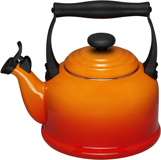 le creuset tradition fluitketel 2 1 liter oranje rood. Black Bedroom Furniture Sets. Home Design Ideas
