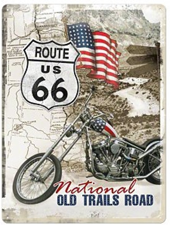 Route 66 magneet, Amerika USA, Metaal in Benningbroek