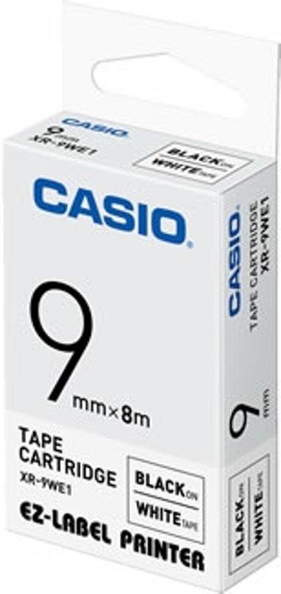 Casio XR-9WE Zwart op wit
