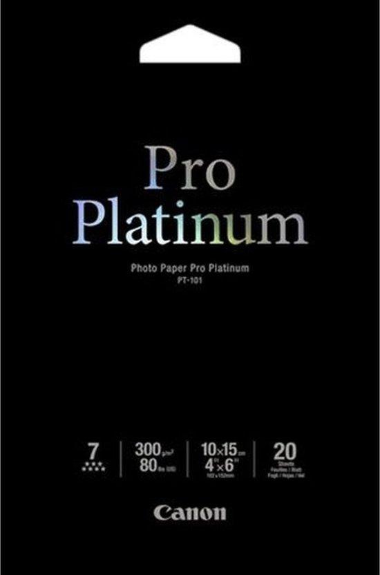 Canon PT-101  Pro Platinum Photo 10x15cm, 20 sheets
