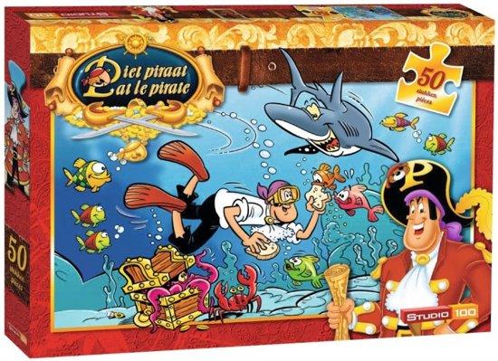Piet Piraat Haai - 50 stukjes - Puzzel in Othée